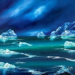 Antarctic Penguins III by Philip Gray -  sized 20x20 inches. Available from Whitewall Galleries